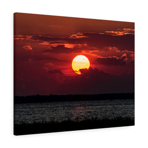 Canvas Wrap:  Red Sunset