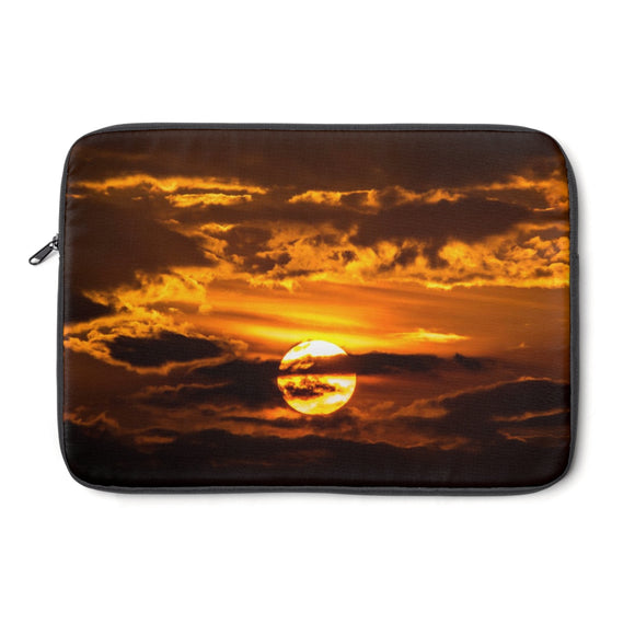 Laptop Sleeve: Sunset Through the Clouds