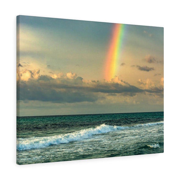 Canvas Wrap:  Rainbow Waves