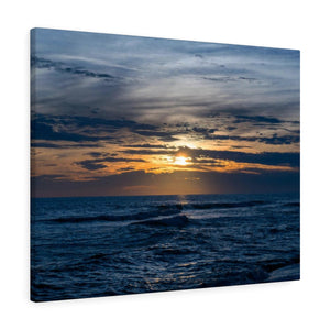 Canvas Wrap: Gulf Waves at Sunset
