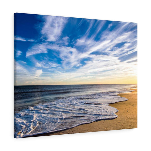 Canvas Wrap: Golden Hour Beach Waves
