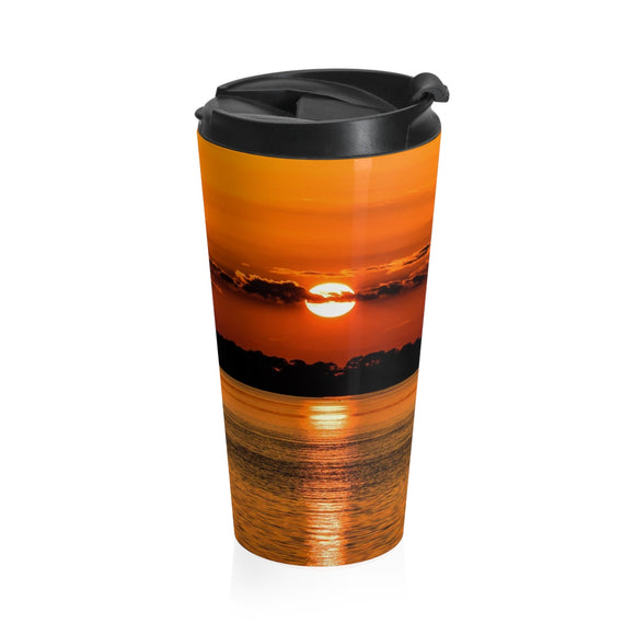 Stainless Steel Travel Mug: Orange Sunset