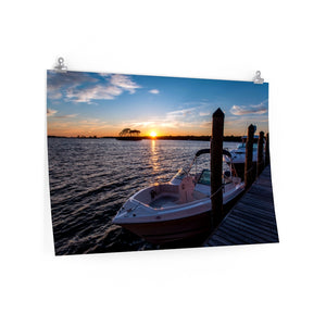 Poster Print:  Dockside Sunset