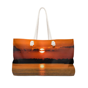 Weekender Bag: Orange Sunset Reflection