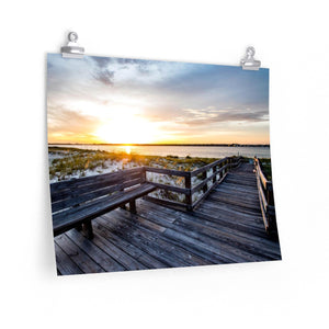 Premium Matte Poster: Boardwalk Sunset