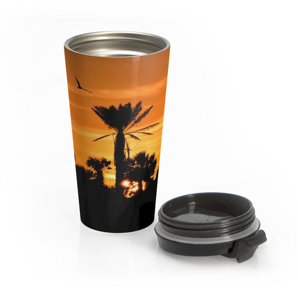 Palm Tree Sunset Photo:  Stainless Steel Travel Mug