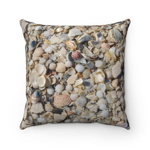 Polyester Square Pillow: Seashells