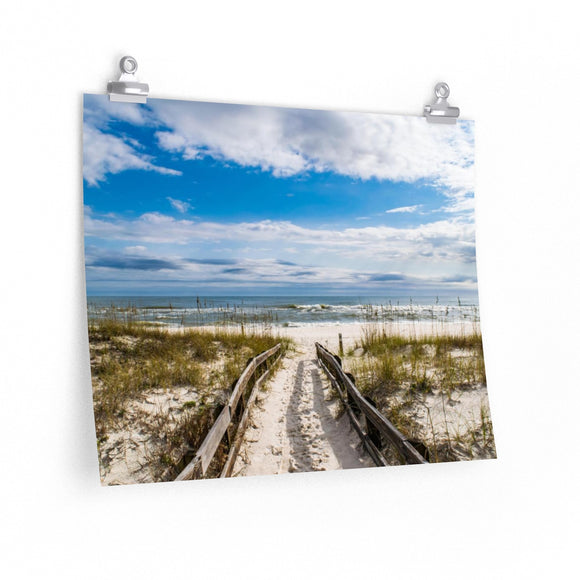 Premium Matte Poster Print: Pathway to the Beach