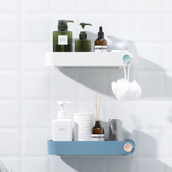 Stylish bathroom caddy/ shelf, drill free, available in 4 colours