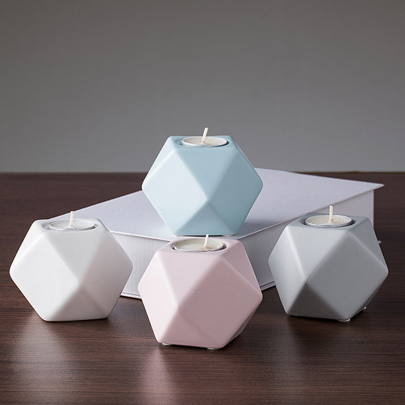Ceramic tealight holder, available in four colours