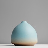 Handmade Ceramic Vase, Sunset Blue to Orange transition