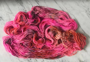 Blazing Pink Worsted Roberta Rae Michigan