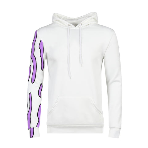 Purple One Sleeve Men's Hoodie