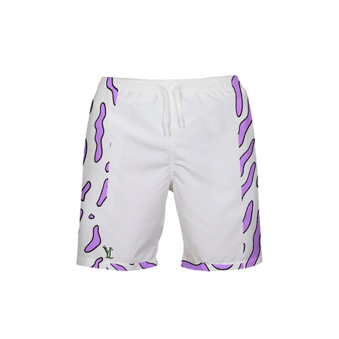 Purple Swirls Men's Trunks