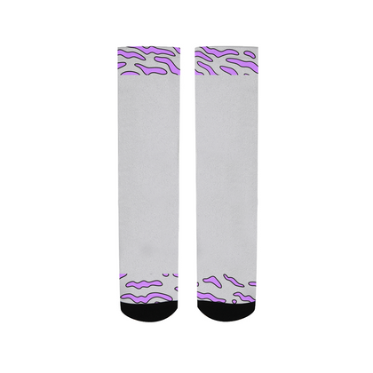 Purple Swirls Socks