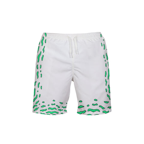 Green Swirls Men's Trunks