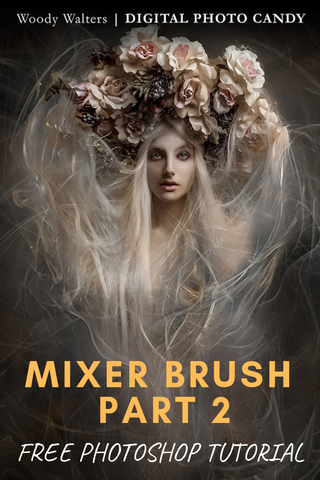 FREE TUTORIAL! Learn how to use the mixer brush in photoshop creative cloud.