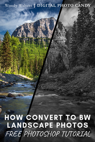 Photoshop Video Tutorial: How to Convert to Black and White on Landscape Photos