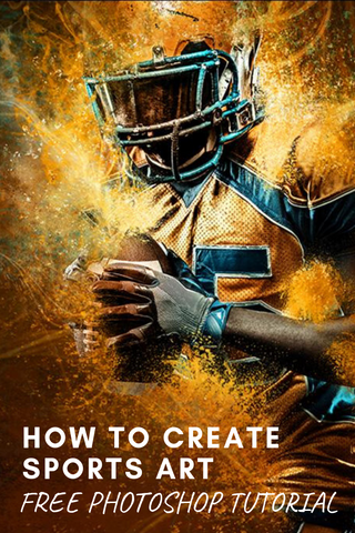 How to Create Sports Art.  Free Photoshop Video Tutorial!