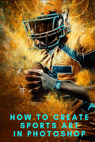how to create sports art in photoshop