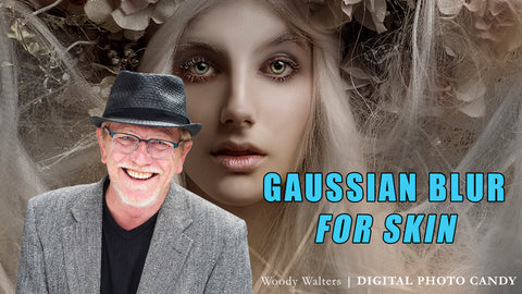 VIDEO TUTORIAL: How to use gaussian blur to retouch skin.