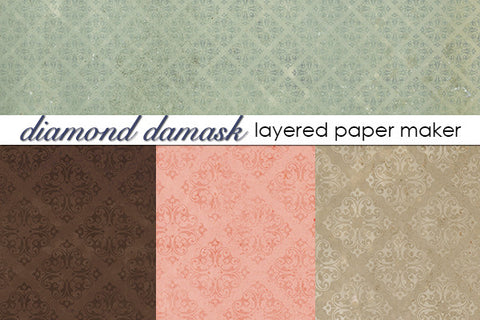 Diamond Damask Layered Paper Maker