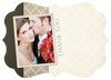 Ivory and Pewter Wedding Thank You Card