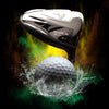 Layered Golf Ball and Club Background