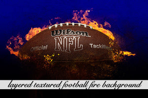 Layered Texture Football Fire Background