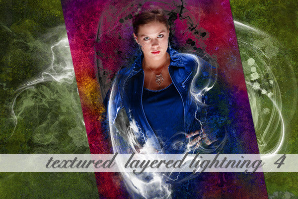 Layered Lightning Textured Background 4