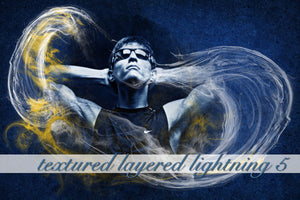 Layered Lightning Textured Background 5