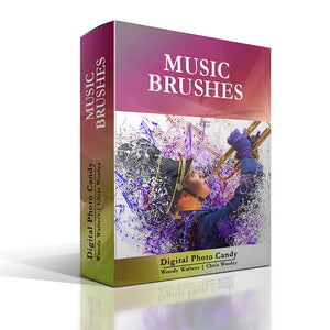 Music Brush and Background Set