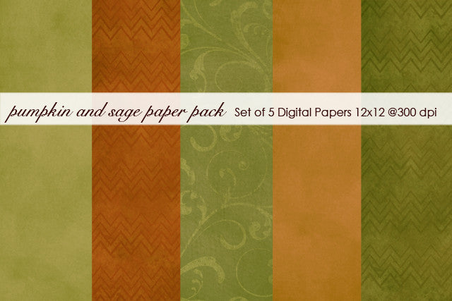 Pumpkin and Sage Paper Pack