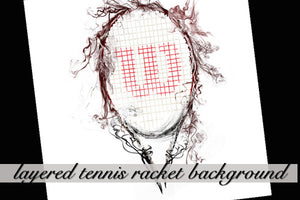 Layered Tennis Racket Background