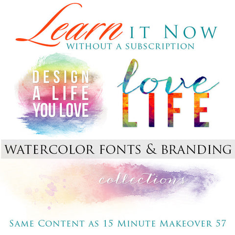 Learn it Now:  Watercolor Fonts