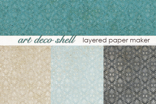 Art Deco Shell Layered Paper Maker