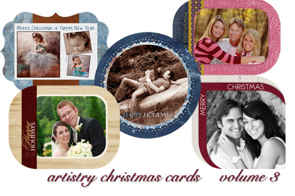 Artistry Christmas Card Templates Volume 3