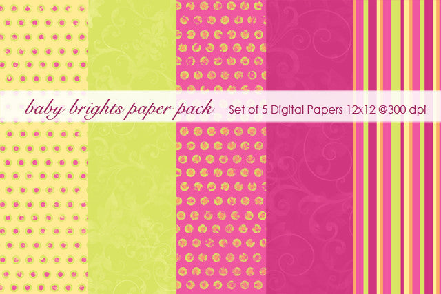 Baby Brights Paper Pack