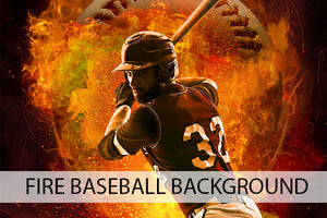 Baseball Fire Background