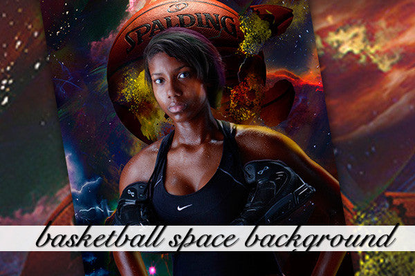 Layered Basketball Space Background