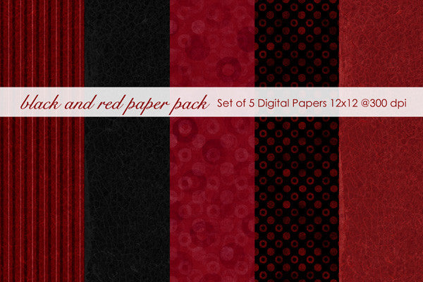 Red and Black Paper Pack