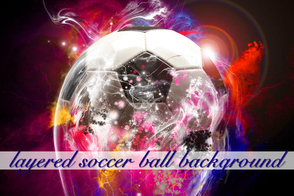 Layered Black and White Soccer Ball Background