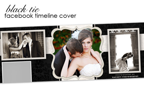 Black Tie Facebook Timeline Cover