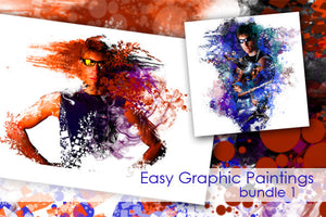 Easy Graphic Paintings Bundle 1