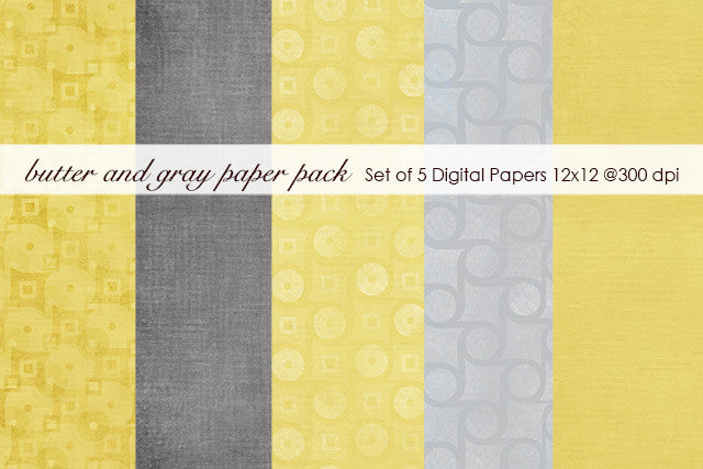 Butter and Gray Paper Pack