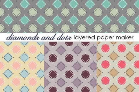 Diamonds and Dots Layered Paper Maker