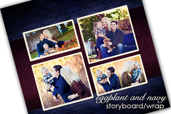 Family Eggplant and Navy Gallery Wrap