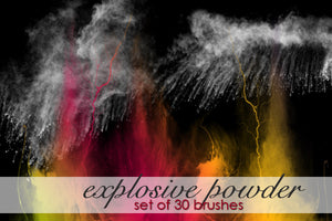 Explosive Powder Brushes