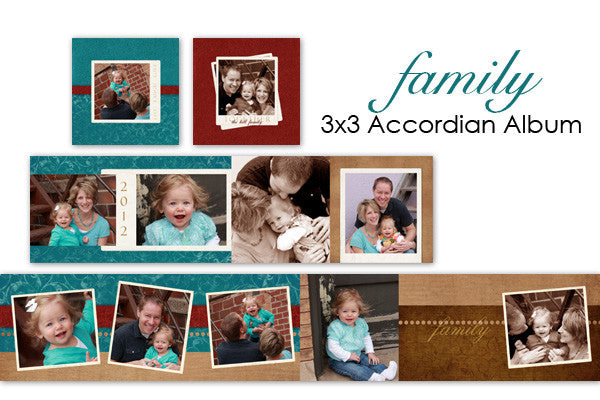 Family Accordian Album 3x3