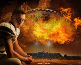 Football Fire Photoshop Backgrounds Bundle